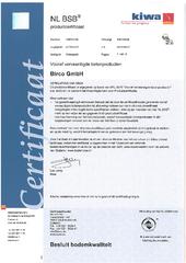 KIWA I NL BSB® I Certificate
