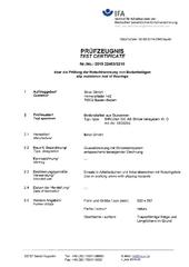Certificate slip resistance test guiding gratings for the blinds