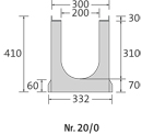 BIRCOsir – kleine Nennweiten Nominal width 200 AS Channels Channel elements with 0.5% internal inbuilt fall