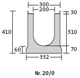 BIRCOsir Small dimensions Nominal width 200 AS Channels Channel elements with anchoring system | 0.5% internal inbuilt fall