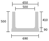 BIRCOcanal Nominal width 500 AS Channels Supply channels without angles andanchoring sytem I cast-in mounting rails