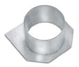 BIRCOplus Nominal width 100 Accessories End caps with outlet DN 110, galvanized