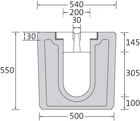 BIRCOsolid slot channel Profile 200/300 Channels Slot channel elements without internal fall