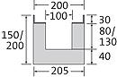 BIRCOsir – kleine Nennweiten Nominal width 100 Channels Shallow channels without internal inbuilt fall
