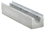 BIRCOprotect Nominal width 150 Channels Channel elements with 0.5 % inbuilt falls with hot-dipped galvanised solid steel edge angle