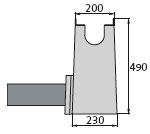 BIRCOprotect Nominal width 100 Outfall units In-line outfall unit | with PEHD pipe support | 1-piece