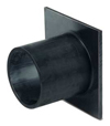 BIRCOprotect Nominal width 300 Accessories End cap with outlet made of PEHD for construction height 470. DA 315x18