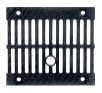 BIRCOprotect Nominal width 100 Gratings Ductile iron slotted gratings | twofold | for shut-off outfall unit NW 100 - 200