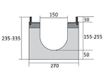 BIRCOdicht Nominal width 150 Channels Channel elementsl with 0.5 % internal gradient