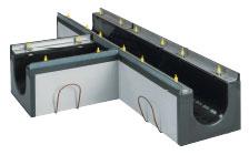 BIRCOdicht Nominal width 200 Channels T-pieces 90° | without internal inbuilt fall