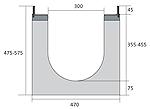BIRCOdicht Nominal width 300 Channels Channel elements with 0.5 % inbuilt falls