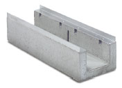BIRCOcanal Nominal width 200 Channels Supply channels with angles I cast-in mounting rails