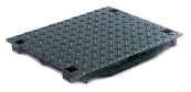BIRCOcanal Nominal width 500 Gratings Bulb ductile iron cover I for supply channelswith angles
