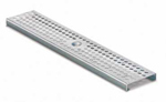 BIRCOtop F-Series without visible edge profile 100 (Outer width) Gratings/covers Perforated gratings I rhombic hole