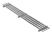 BIRCOtop F-Series without visible edge profile 100 (Outer width) Gratings Longitudinal bar grating