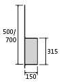 BIRCOmax-i Nominal width 320 Accessories End caps with outlet DN 315