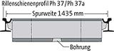 BIRCOsir Rail Track Drainage Nominal width 100 Channels Rail profile 57 R 1/67 R 1 (prev. Ph37/Ph37a) I Gauge 1435