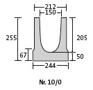 BIRCOslotted steel covers Nominal width 150 AS Channels Channel elements NW 150 AS for slotted steelcovers/access covers I without inbuilt fall