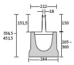 BIRCOslotted steel covers Nominal width 150 AS Slotted steel covers Slotted steel covers I symmetrical I material thickness 1,5 mm