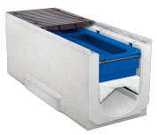 BIRCOpur® Nominal width 300 AS Channels Channel element with filtration set and gratings