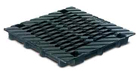 BIRCOdicht point drainage without nominal width Gratings/covers Twofold cast grating for point drainage 40/40. black immersion lacquered