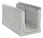 BIRCOcanal Nominal width 320 Channels Supply channels with angles I with cast in-mounting rails