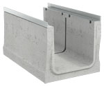 BIRCOcanal Nominal width 420 Channels Supply channels with angles I with cast-in mounting rails