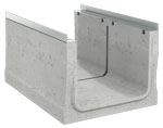 BIRCOcanal Nominal width 520 Channels Supply channels with angles I with cast in-mounting rails